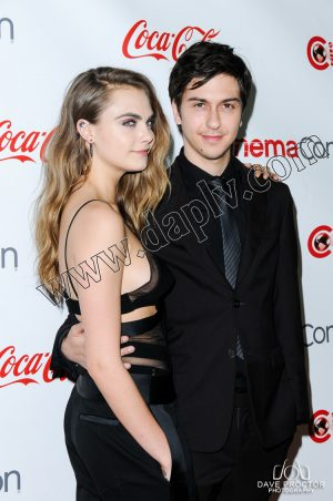 CinemaCon 2015 Cara Delevingne and Nat Wolff