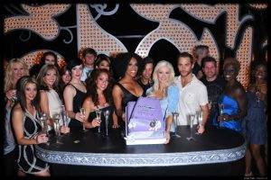 Holly Madison and the cast of Peepshow