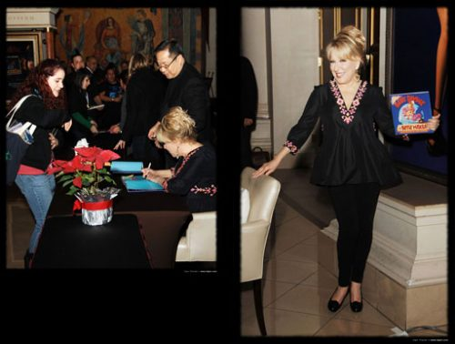Bette Midler signs her new book