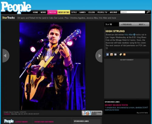 Kris Allen Photo published