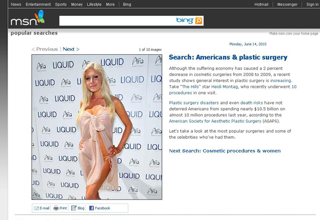 Heidi Montag on MSN