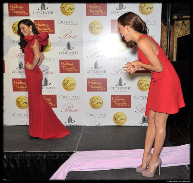 Eva Longoria Parker unveils $300,000 wax figure at Eve