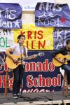 Kris Allen performs a special private concert at Coronado High School