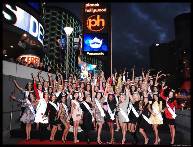 Miss America contestants arrive in Las Vegas