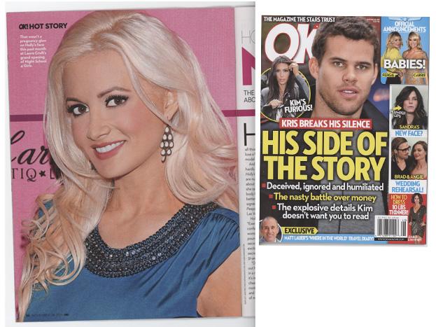 Holly Madison in OK Magazine