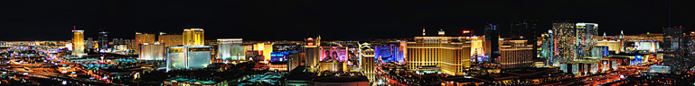 Las Vegas Strip as seen from the top of the Rio Hotel and Casino